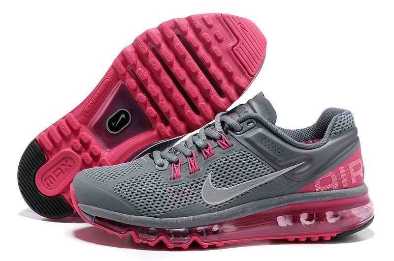 Discount Nike Air Max 2015 Womans Sports Shoes - Silver Gray Pink BV360958