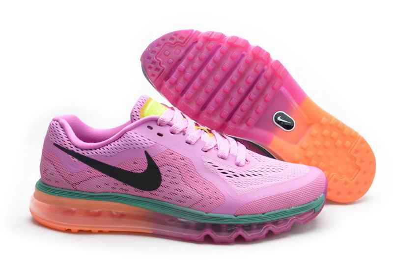 Discount Nike Air Max 2015 Women Running Shoes - Purple Orange TO086451