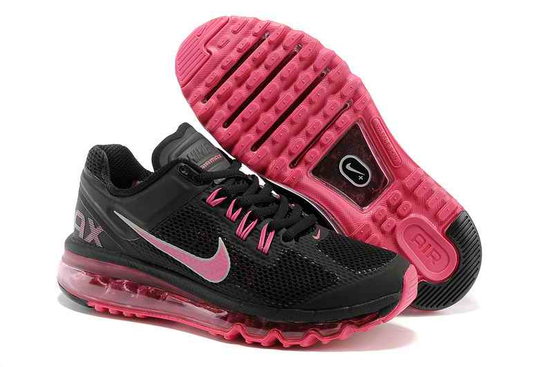 Discount Nike Air Max 2015 Women's Sports Shoes - Black Pink HB596102