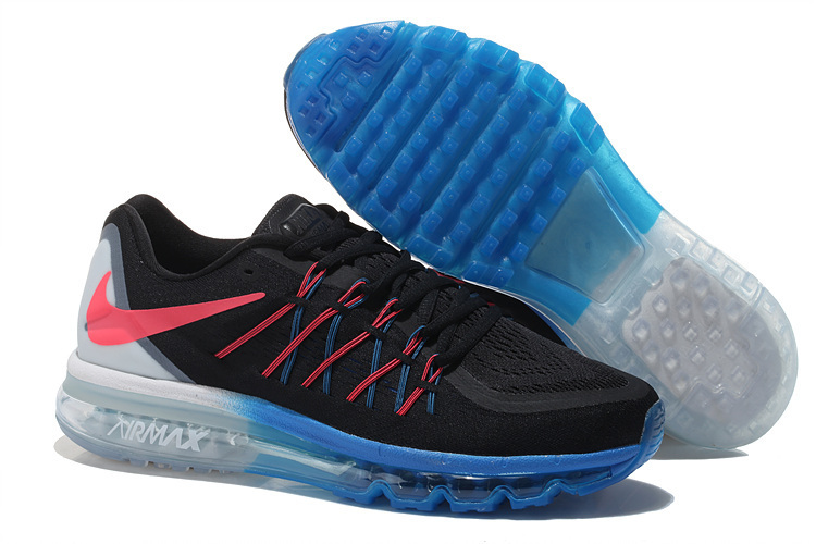 Nike Air Max 2015 Shoes For Women Black Blue White