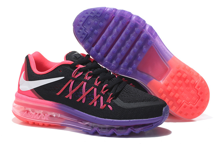 Nike Air Max 2015 Shoes For Women Black Purple Pink