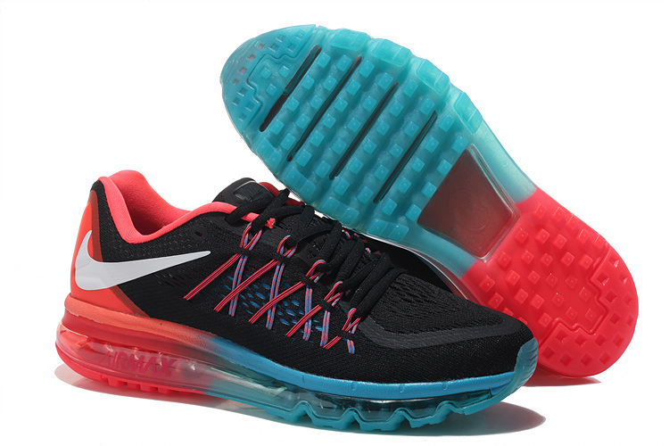 Nike Air Max 2015 Women Running Shoes Black Blue Red