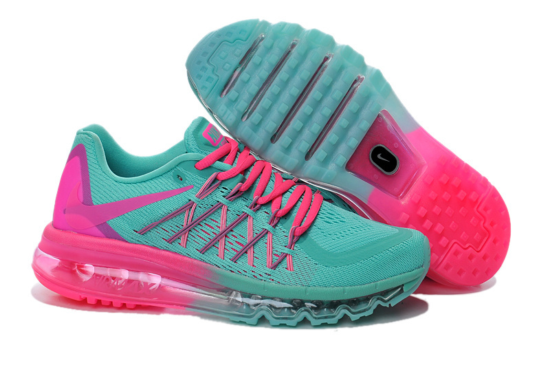 Nike Air Max 2015 Women Running Shoes Green Pink