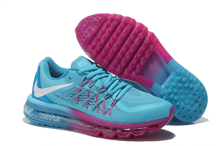 Nike Air Max 2015 Women Running Shoes Pink Blue