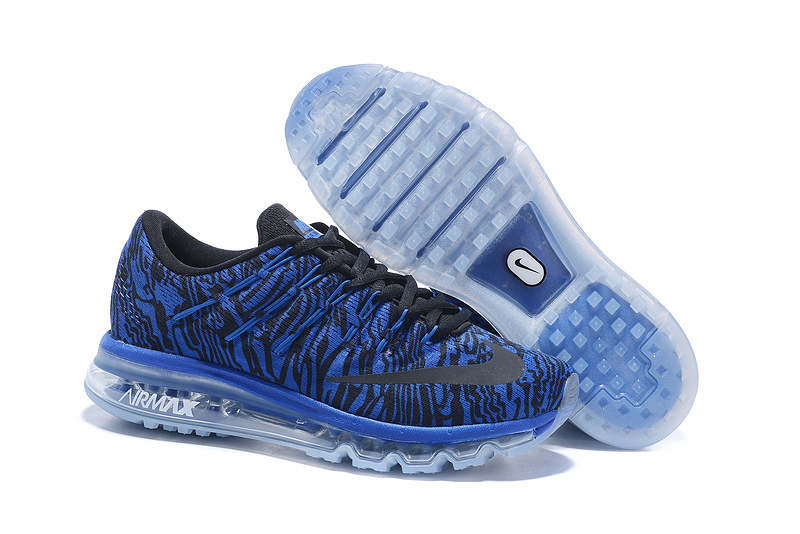 Nike Air Max 2016 Print Men's Running Shoes Black Blue