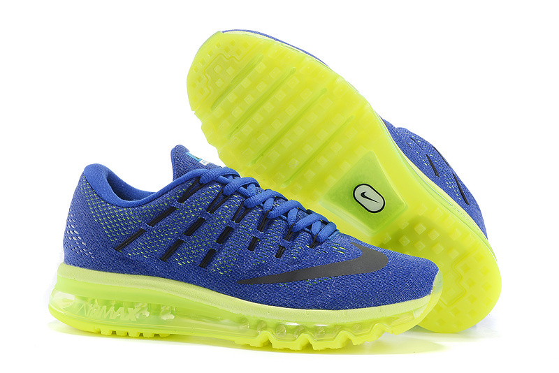 Nike Air Max 2016 Men's Running Shoes Blue Yellow