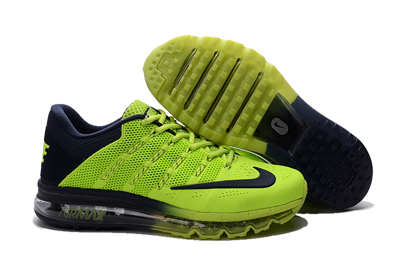 Air Max 2016 Nike Men's Running Shoes Blue Fluorescent Green