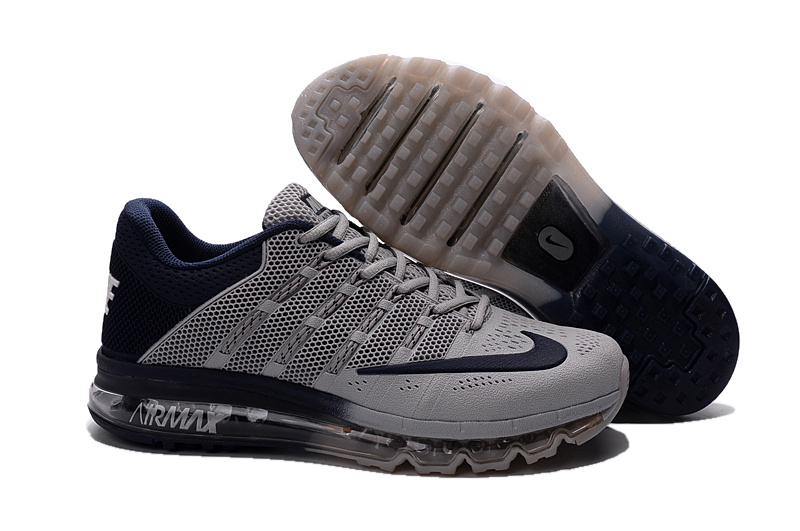 Air Max 2016 Nike Men's Running Shoes Grey Deep Blue