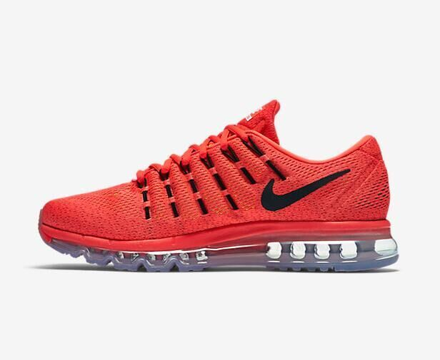 Air Max 2016 Nike Men Running Shoes Orange Black