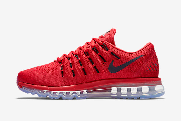 Air Max 2016 Nike Men Running Shoes Red Black