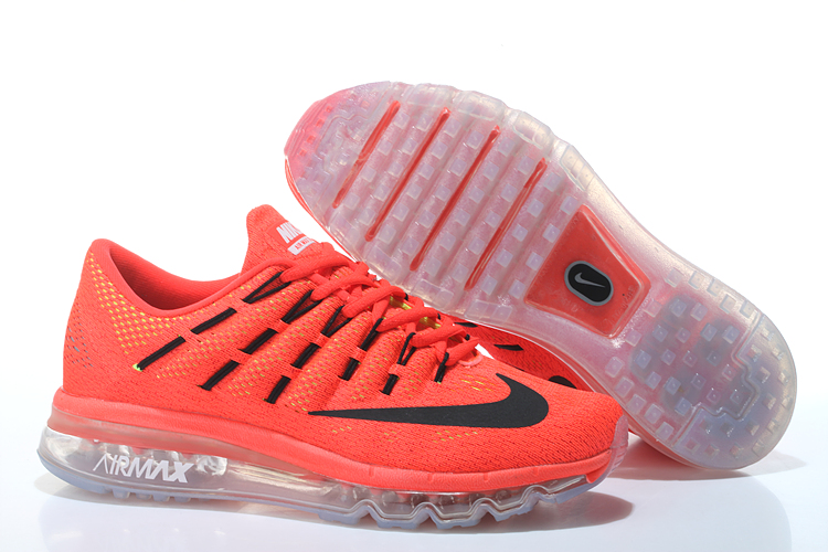 Nike Air Max 2016 Leather Mens Shoes Orange Black