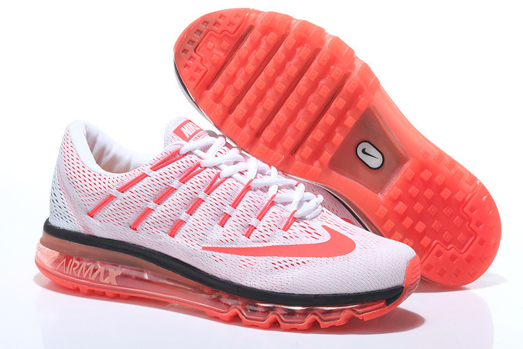 Nike Air Max 2016 Leather Mens Shoes Orange White
