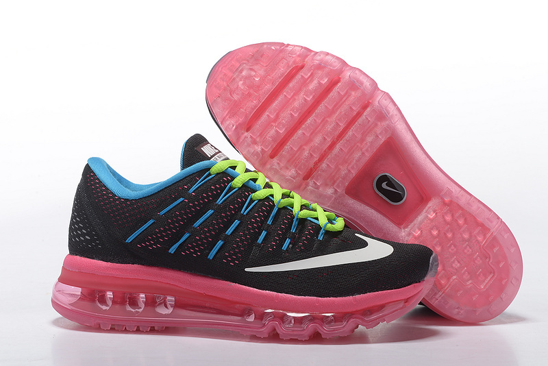 Nike Air Max 2016 Women's Running Shoes Black Pink