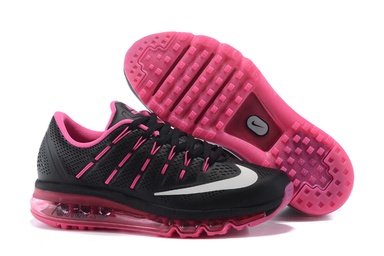 Nike Air Max 2016 Leather Womens Shoes Black Pink