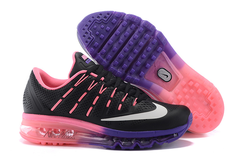 Nike Air Max 2016 Leather Womens Shoes Black Purple Pink