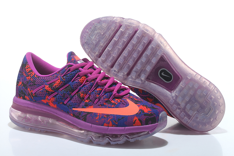 Nike Air Max 2016 Print Women's Running Shoes Purple