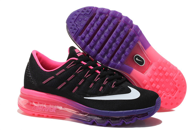Nike Air Max 2016 Women Mesh Running Shoes Black Purple Pink