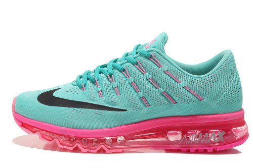 Nike Air Max 2016 Women Mesh Running Shoes Green Pink