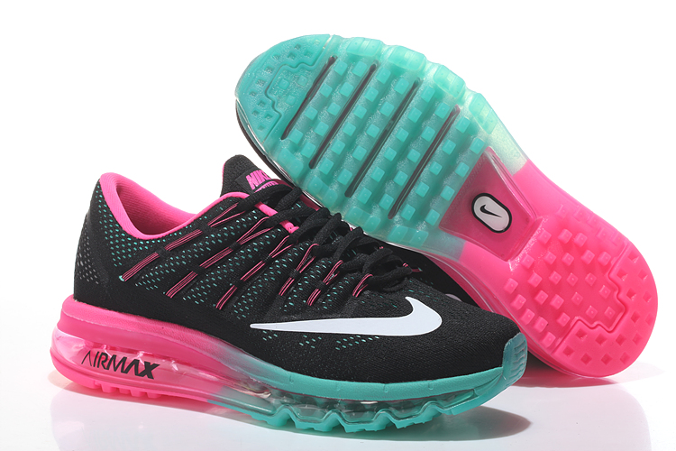 Nike Air Max 2016 Women's Running Shoes Black Blue Pink