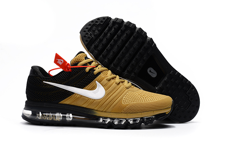 Air Max FREE SHIPPING Cheap Air Max 2017 Running Shoes Black Gold