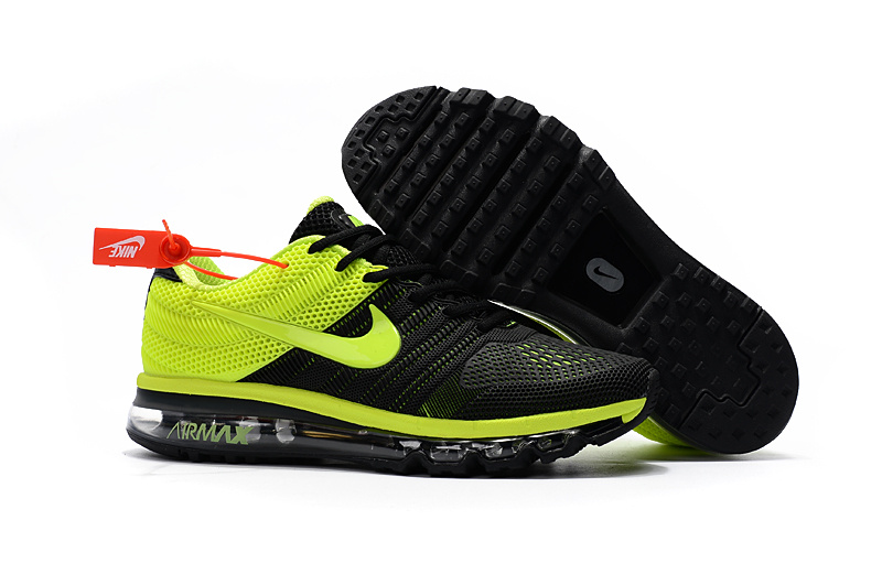 Air Max FREE SHIPPING Cheap Air Max 2017 Running Shoes Fluorescent Green Black