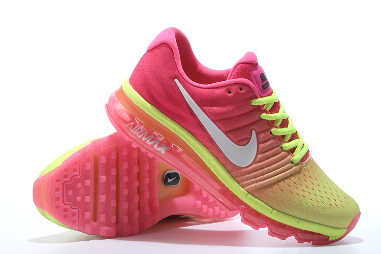 Air Max FREE SHIPPING Cheap Air Max 2017 Women Fluorescent Green Pink White