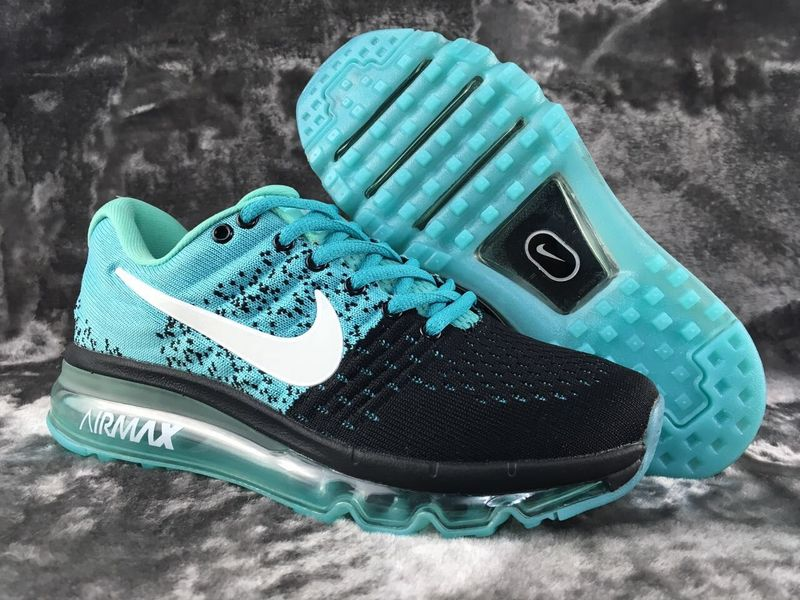 Air Max FREE SHIPPING Cheap Flyknit Air Max 2017 Womens Black Grass Green