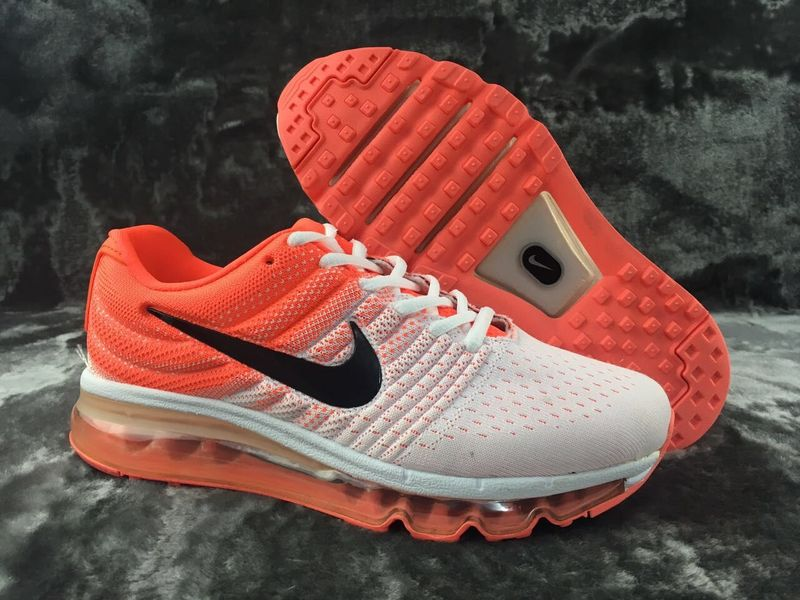 Air Max FREE SHIPPING Cheap Flyknit Air Max 2017 Womens Orange Grey White