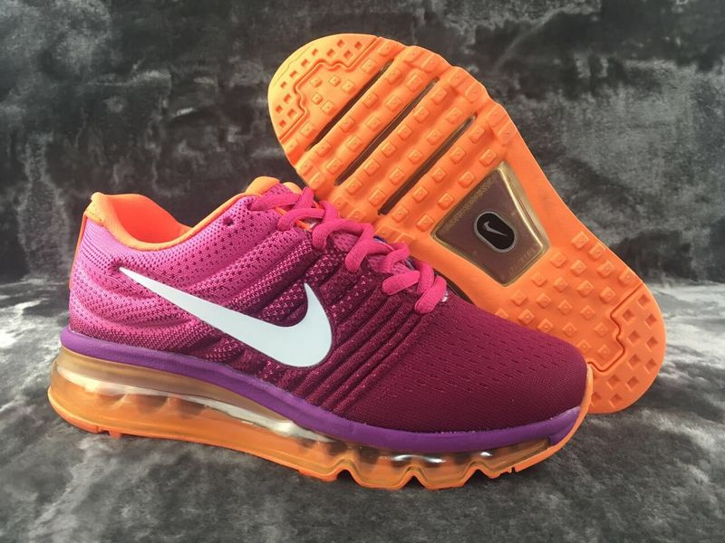 Air Max FREE SHIPPING Cheap Flyknit Air Max 2017 Womens Purple White Orange