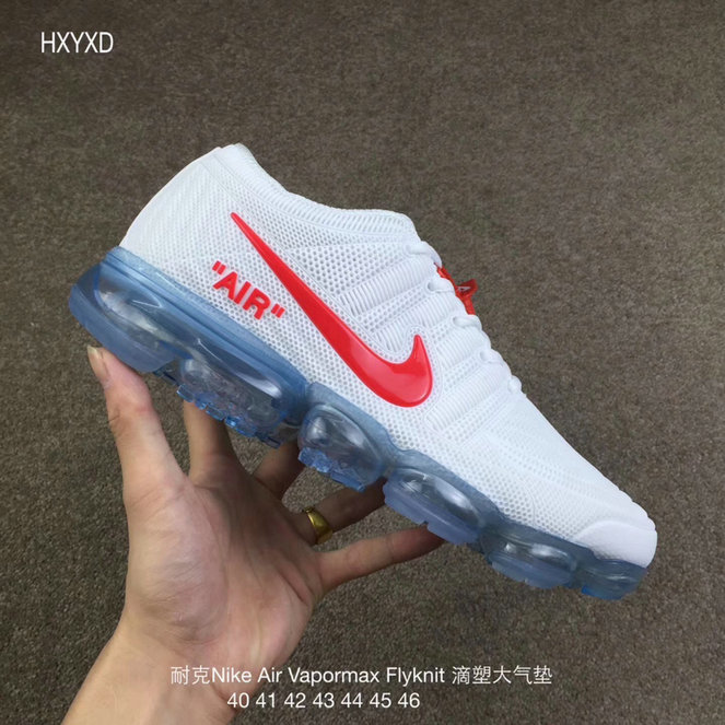 Cheap Nike 2018 Nike Air 2018 Flyknit White Red Running