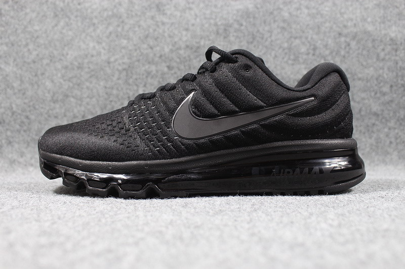 Air Max FREE SHIPPING Cheap Nike Air Max 2017 Mens All Black Running Shoes