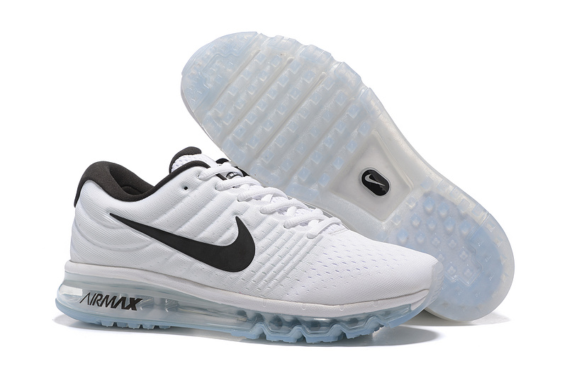 Air Max FREE SHIPPING Cheap Nike Air Max 2017 Mens All White Black
