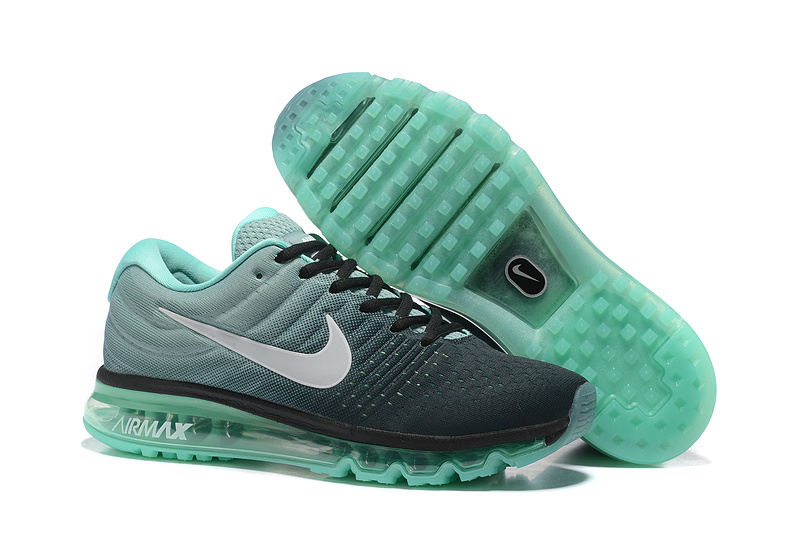 Air Max FREE SHIPPING Cheap Nike Air Max 2017 Mens Black Grass Green White