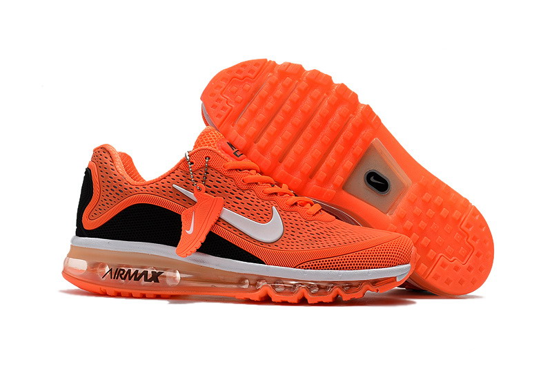 Air Max FREE SHIPPING Cheap Nike Air Max 2017 Mens Black Red Orange Running Shoes
