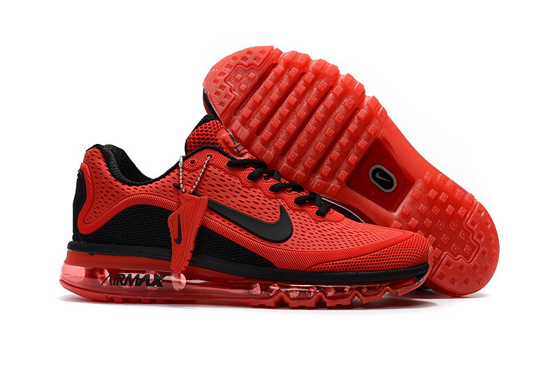 Air Max FREE SHIPPING Cheap Nike Air Max 2017 Mens Fire Red Black Running Shoes