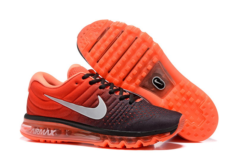Air Max FREE SHIPPING Cheap Nike Air Max 2017 Mens Orange Grey Black Running Shoes