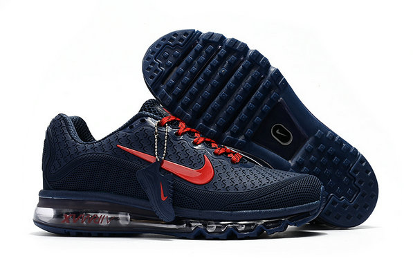 Air Max FREE SHIPPING Cheap Nike Air Max 2017 Mens Rubber Patch Navy Blue Red