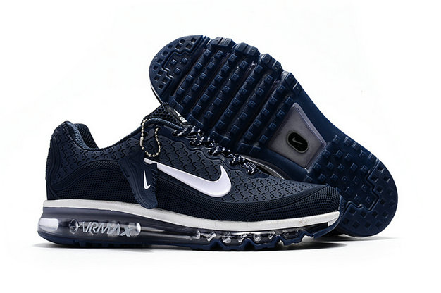 Air Max FREE SHIPPING Cheap Nike Air Max 2017 Mens Rubber Patch Navy Blue White