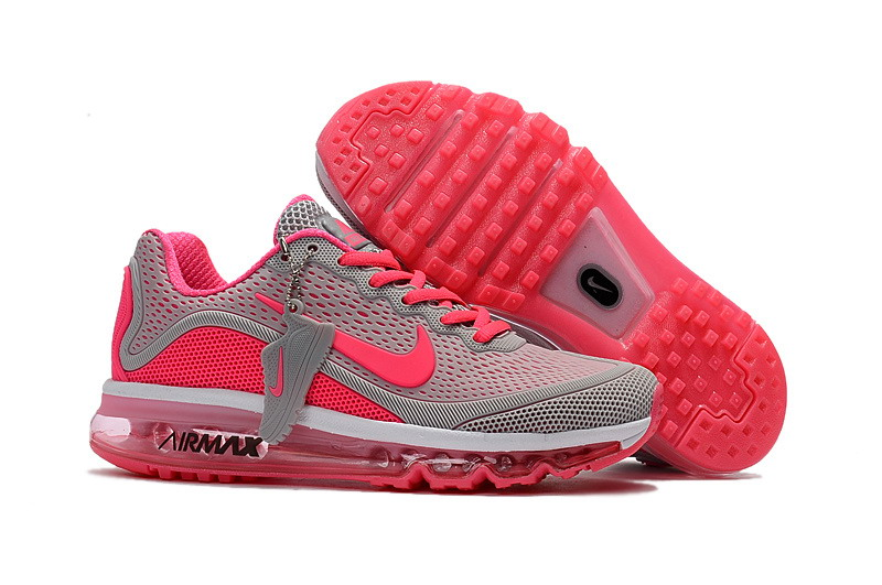 Air Max FREE SHIPPING Cheap Nike Air Max 2017 Womens Grey Pink Running Shoes