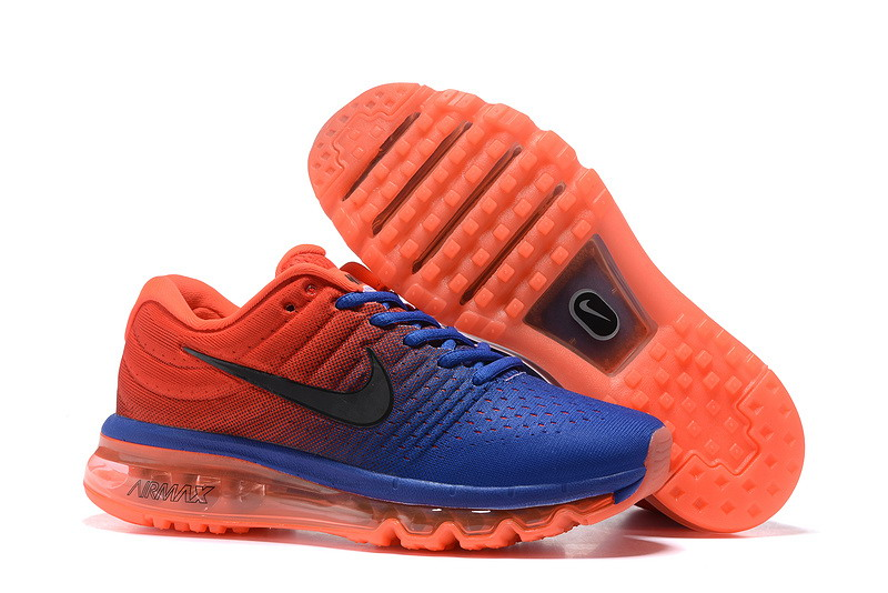 Air Max FREE SHIPPING Cheap Nike Air Max 2017 Womens Royal Blue Orange Red Running Shoes
