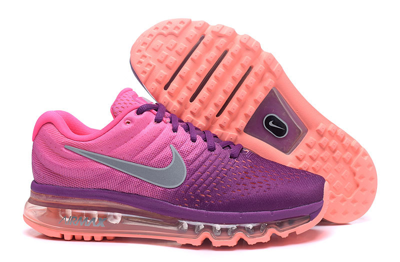 Air Max FREE SHIPPING Cheap Nike Air Max 2017 Womens Running Shoes Purple Grey Orange