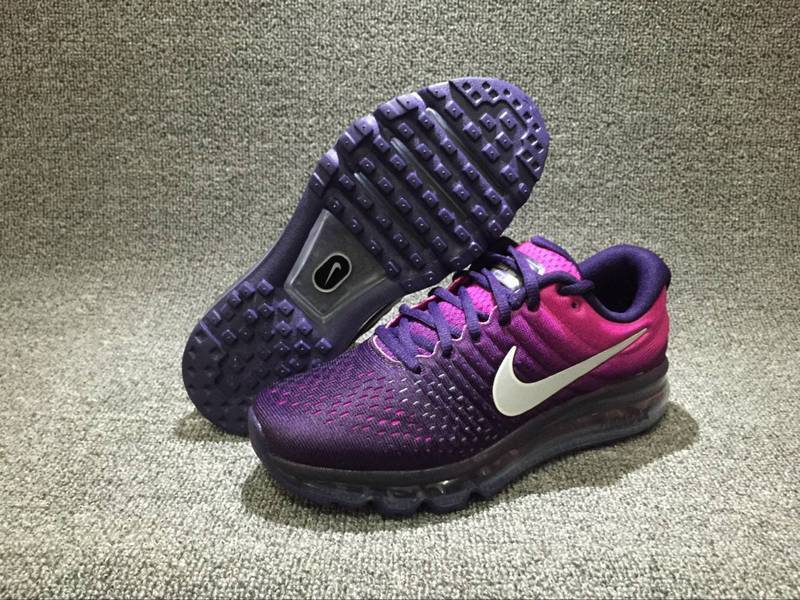 Air Max FREE SHIPPING Cheap Nike Air Max 2017 Womens Running Shoes Purple Pink Black