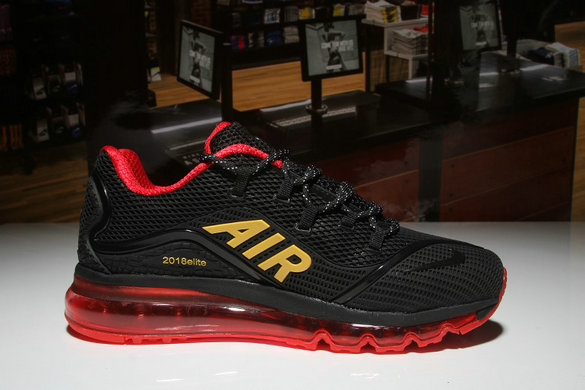 Air Max FREE SHIPPING Cheap Nike Air Max 2018 Elite Red Gold Black