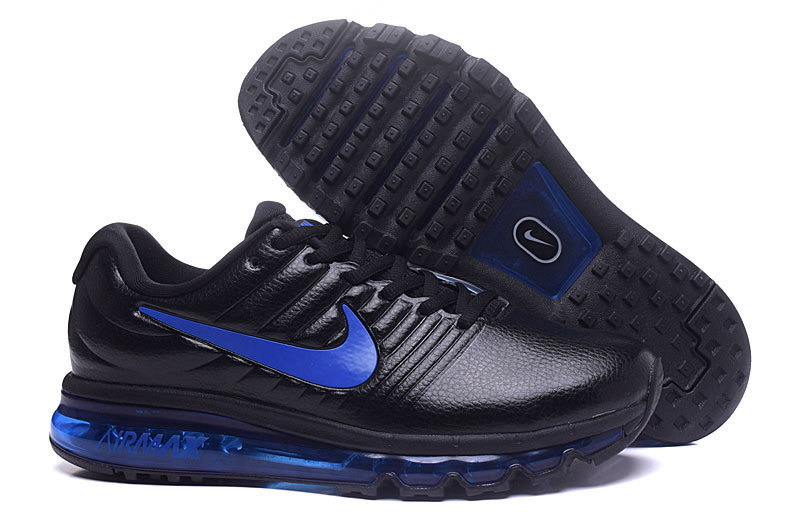 Air Max FREE SHIPPING Cheap Nike AirMax 2017 Leather Blue Black