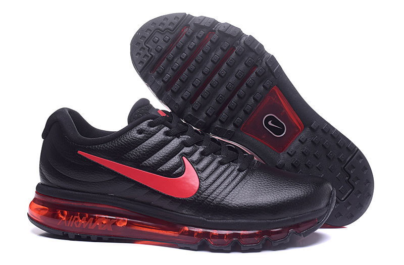 Air Max FREE SHIPPING Cheap Nike AirMax 2017 Leather Red Black