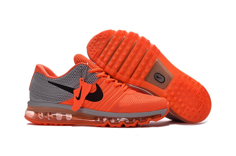 Air Max FREE SHIPPING Cheap Nike AirMax 2017 Orange Grey Black