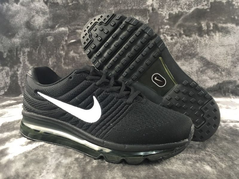 Air Max FREE SHIPPING Cheap Nike Flyknit Air Max 2017 All Black White