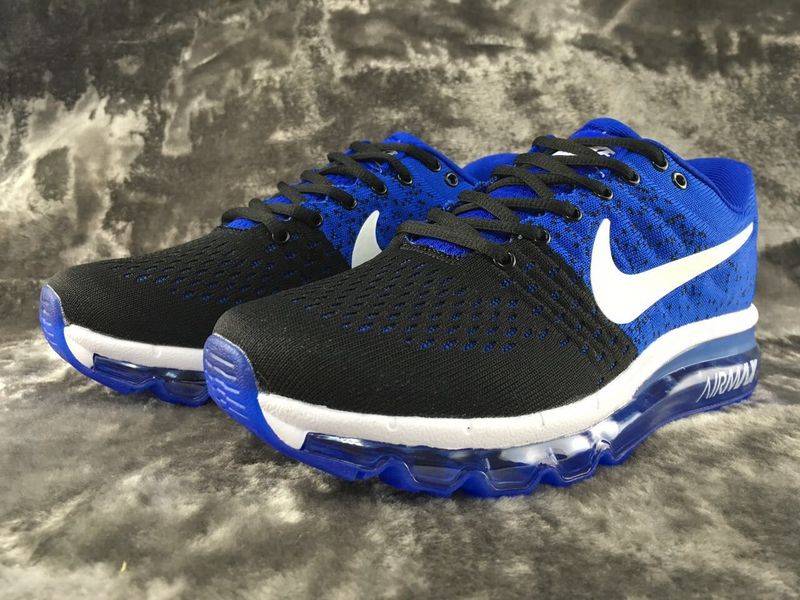 Air Max FREE SHIPPING Cheap Nike Flyknit Air Max 2017 Black Blue White