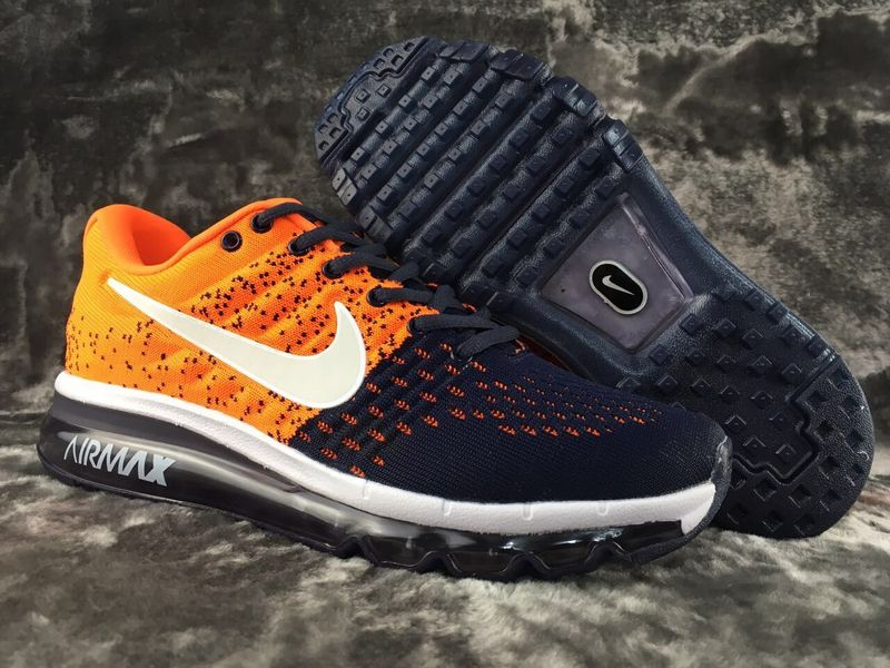 Air Max FREE SHIPPING Cheap Nike Flyknit Air Max 2017 Orange Black