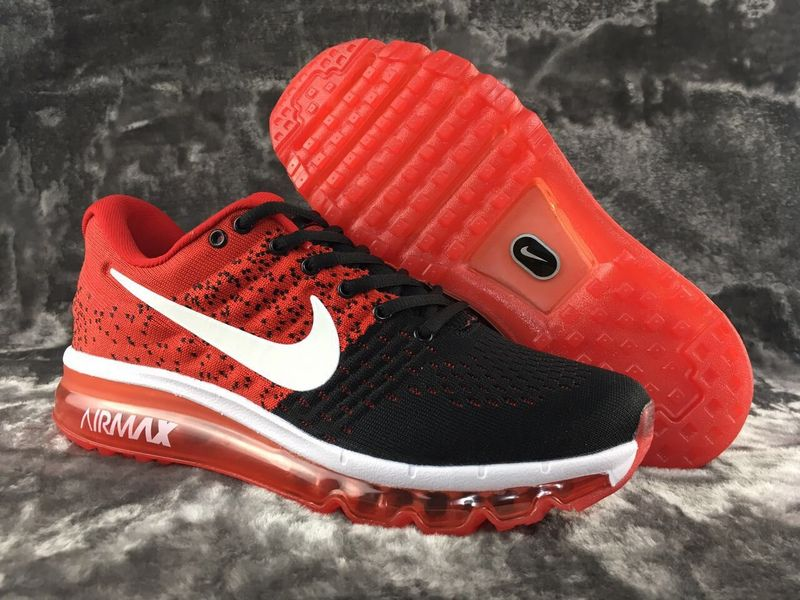 Air Max FREE SHIPPING Cheap Nike Flyknit Air Max 2017 Red Black White